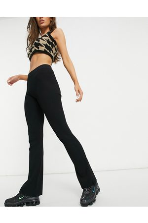 Weekday Orina knitted slim trousers in black