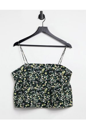 Fashion Union Cami smock top with peplum hem in quilted ditsy floral co