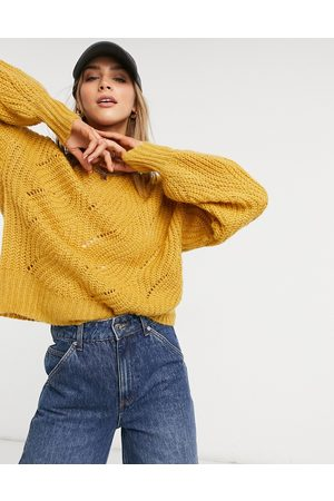Native Youth Oversized jumper in yellow