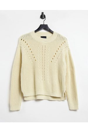 Pieces Jumper with textured knit in cream