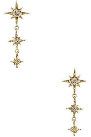 Shashi Pendiente shooting star en color oro metálico talla all en - Metallic Gold. Talla all.