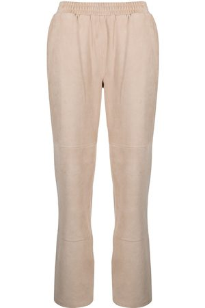adidas Mujer De piel - Elasticated leather trousers