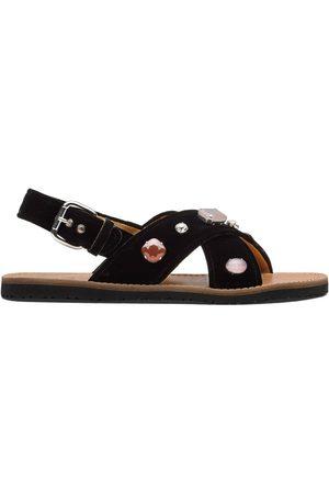 adidas Mujer Sandalias - Crystal-embellished velvet sandals