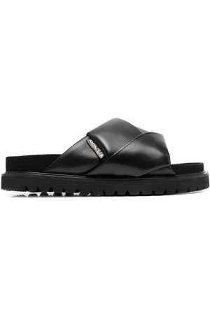 adidas Crossover strap leather slides