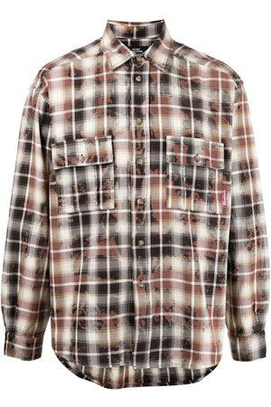 adidas Hombre Camisas - Plaid-print cotton shirt