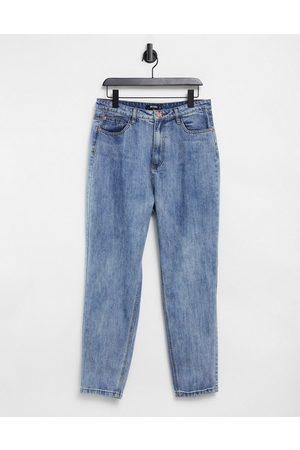 adidas Mom jean in vintage blue wash