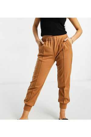 Y.A.S Jersey jogger with front seam in camel