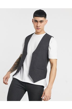 adidas Plain skinny waistcoat in grey