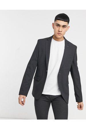 Bolongaro Trevor Plain skinny suit jacket in grey