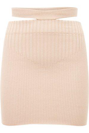 ANDREA ADAMO Mujer Minifaldas - Mini Falda De Punto Acanalado De Viscosa