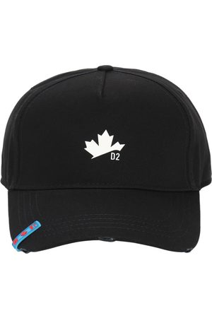 "Dsquared2 Gorra ""maple Leaf"" De Gabardina De Algodón"