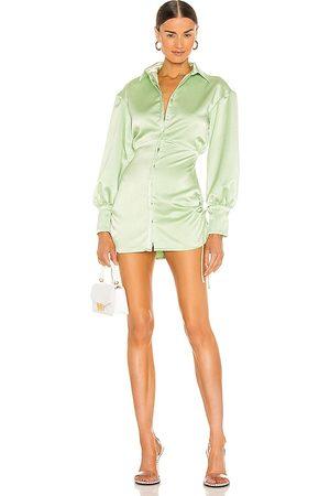 DANIELLE GUIZIO Vestido en color verde salvia talla L en - Sage. Talla L (también en XS, S, M).