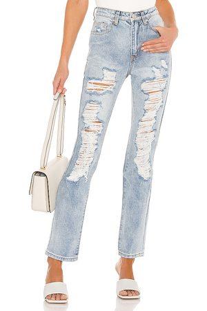 superdown Mujer Jeans - Jean distressed patty en color azul talla 23 en - Blue. Talla 23 (también en 24, 25, 26, 27, 28, 29, 30).