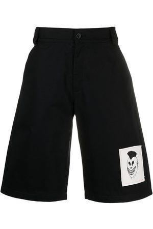 PACCBET Hombre De mezclilla - Shorts de mezclilla con parche del logo