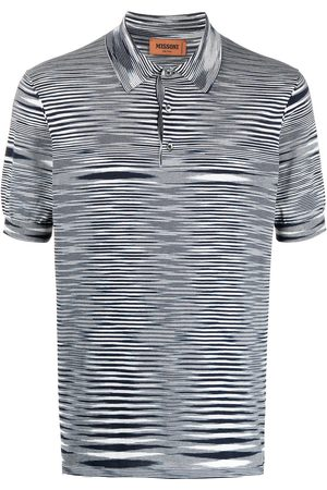Missoni Playera tipo polo con estampado de rayas