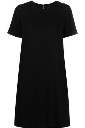 Karl Lagerfeld Vestido recto con espalda plisada