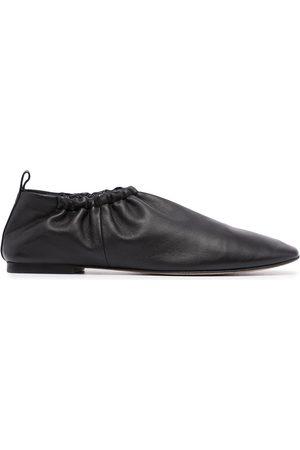 3.1 Phillip Lim Mujer Flats - Slippers con detalles fruncidos