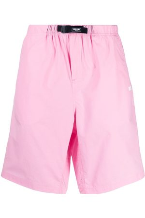 Msgm Buckle-front knee-length shorts