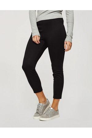 Miss Selfridge Ponte slim trouser in black
