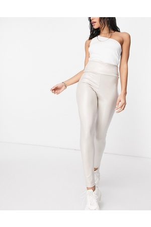I saw it first Coated luxe legging in cream