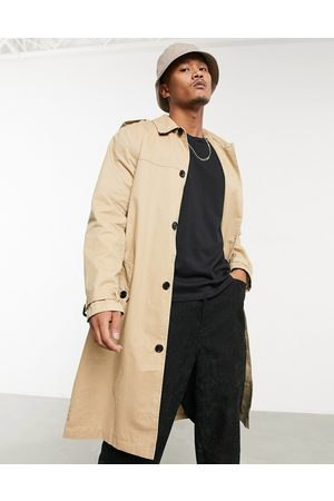 ASOS Lightweight single breasted trench coat in camel