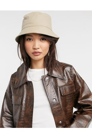 ASOS Natural fabrication bucket hat in