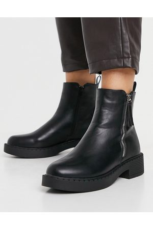 Schuh Amos chunky boots with side zip in black