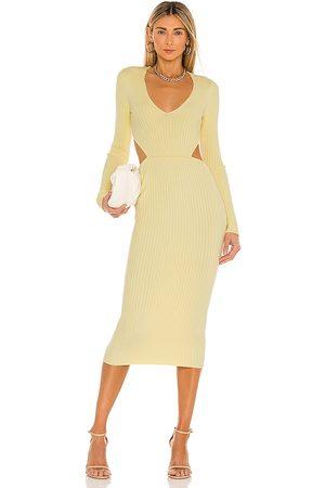 Camila Coelho Mujer Midi - Vestido midi rosabella en color talla L en - Yellow. Talla L (también en M, XL).