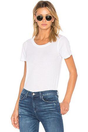 MONROW Camiseta del jersey de cuello redondo en color talla L en - White. Talla L (también en M, S, XS).