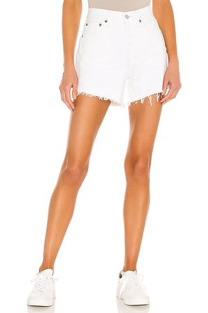 AGOLDE Parker long short en color blanco talla 23 en - White. Talla 23 (también en 24, 25, 26, 27, 28, 29, 30, 31, 32).