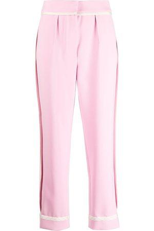 Moschino Pantalones de vestir con tiro alto