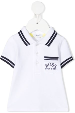 HUGO BOSS Playera tipo polo con logo bordado