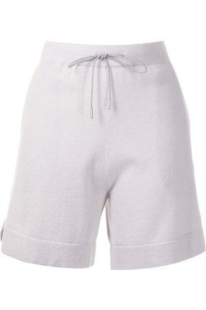 Fabiana Filippi Shorts de cachemira con cordones en la pretina