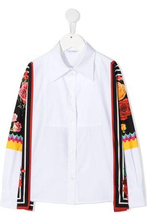 Dolce & Gabbana Camisa con paneles con motivo floral