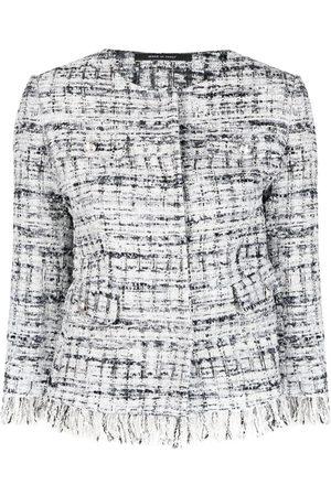 TAGLIATORE Frayed tweed jacket