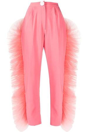 LOULOU Mujer De vestir - Pantalones de vestir con volantes de tul