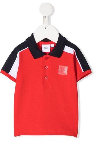 HUGO BOSS Logo colour-block polo shirt