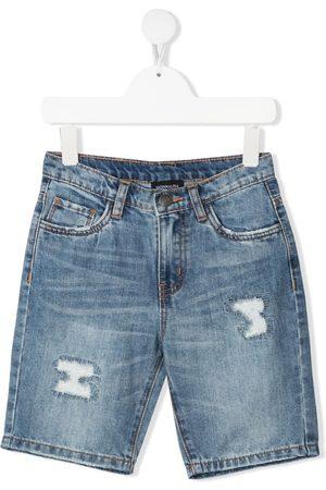 MONNALISA Distressed denim shorts