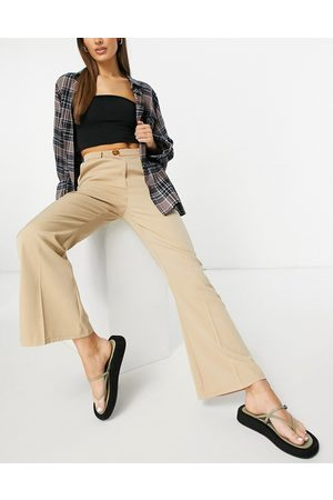 Fashion Union Mujer Leggings y treggings - High waist kick flare tailored trousers co