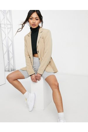 Fashion Union Relaxed fit longline blazer with pocket detail co