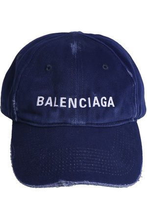 BALENCIAGA Logo Destroyed Washed Baseball Hat