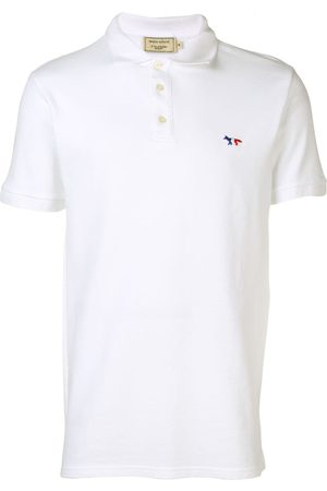 Maison Kitsuné Hombre Polos - Playera tipo polo con logo bordado