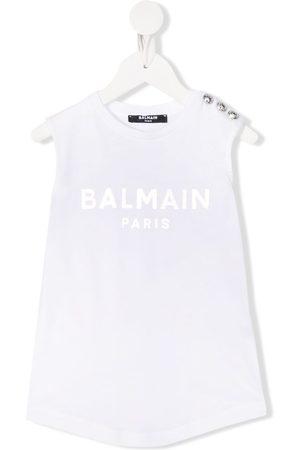 Balmain Niña Playeras - Camiseta con logo