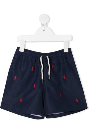 Ralph Lauren Kids Niño Trajes de baño - Shorts de playa con logo bordado
