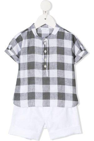 Il gufo Set de camisa y bermudas a cuadros