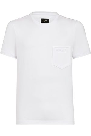 Fendi Camiseta con logo en relieve