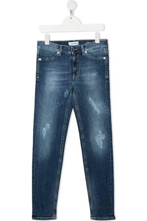 Dondup Kids Jeans slim con efecto desgastado