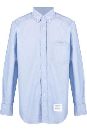 Thom Browne Camisa oxford con bolsillos en el pecho