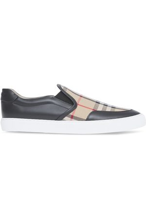 Burberry Check-print slip-on sneakers