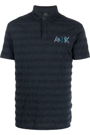 Armani Exchange Playera tipo polo con logo bordado